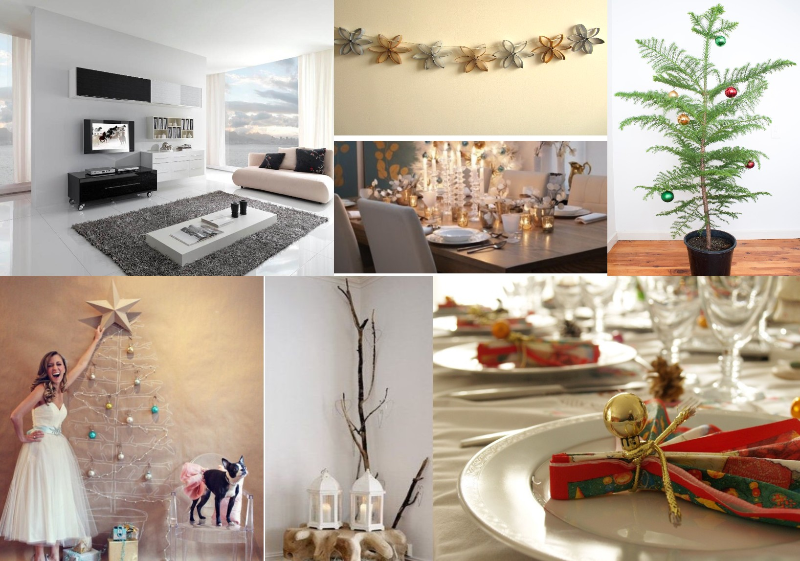 Centros de navidad tendencias 2015 blog decoraci n e for Decoracion navidena minimalista